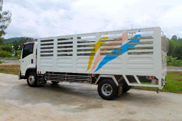 ขาย ISUZU FRR 210แรง ปี56 รถบ้านมือเดียวออกศูนย์เดิมทั้งคันไม่เคยชนมีประกันป.1เพ