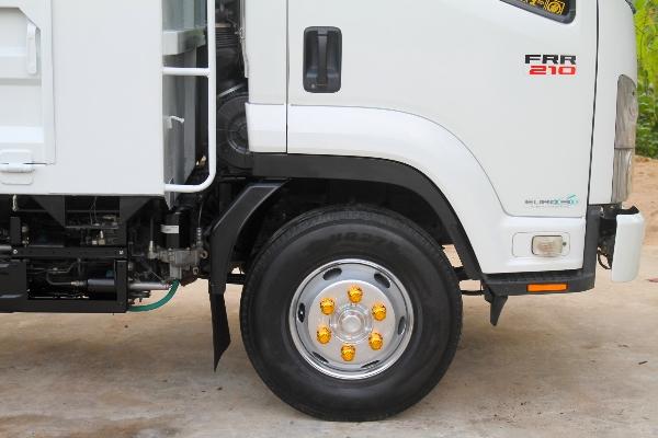 ขาย ISUZU FRR210 ปี55 รถบ้านมือเดียวหัวสีเดิมไม่เคยชน กระบะเหล็กยาว 5.60เมตร