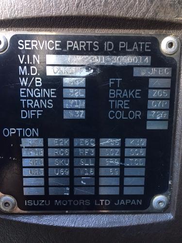 รถบรรทุก10 ล้อ ISUZU GIGA เครื่อง 6SD1 ธรรมดา นำเข้าจากญี่ปุ่น