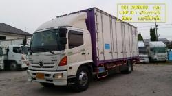 Hino Mega500 CNG ปี 55 ตู้บรรทุกสิบบาน (แก๊สแท้โรงงาน) ยางหน้าใหม่ สภาพพร้อมใช้