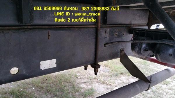 ISUZU deca ปี44 ติดเครน 5 ตัน 4ปลอก Tadano กระบะพื้นไม้ยาว 6.4 เมตร ยางสวย รถพร้