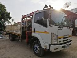 ขายรถบรรทุกISUZU FRR210 6ล้อ ติดเครน  กระบะยาว5.5เมตร